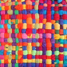 rainbow potholder rug