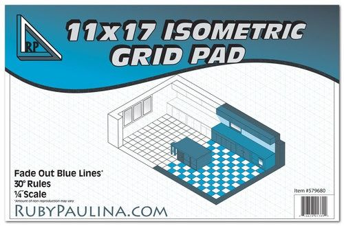 Create Engineering Diagrams Architectural Drawings And Artwork Using A Ruby Paulina Isometric Grid Pad From 11x1 Isometric Grid Isometric Architecture Drawing