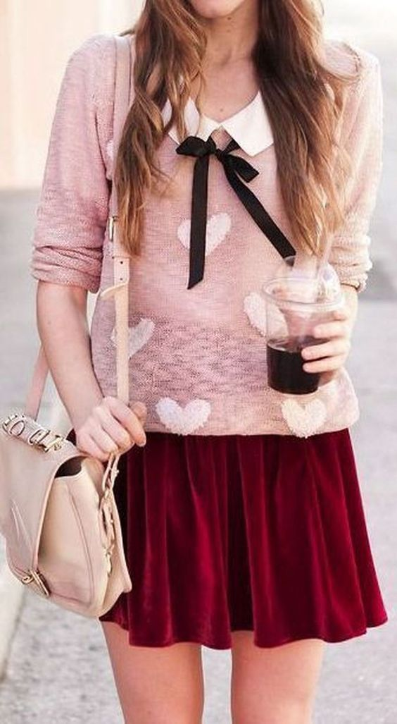 cool 48Gorgeous Red Valentine Day Outfits Ideas  http://lovellywedding.com/2018/01/15/48gorgeous-red-valentine-day-outfits-ideas/