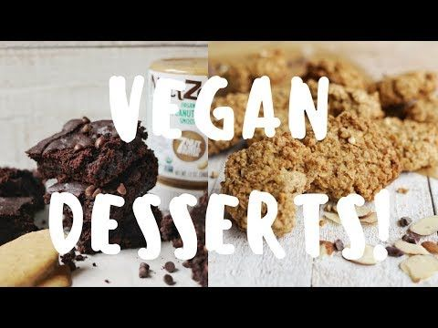 3 Healthy Vegan Dessert Recipes Youtube Vegan Dessert Recipes Healthy Food Processor Recipes Healthy Vegan Desserts