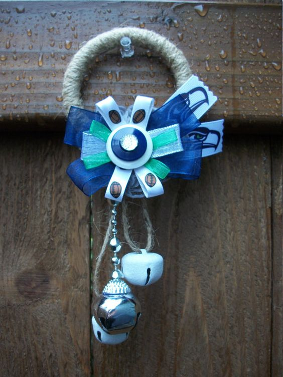 Seattle Seahawks Door Knob Hanger Pro Football Door Decor 12th Man ...