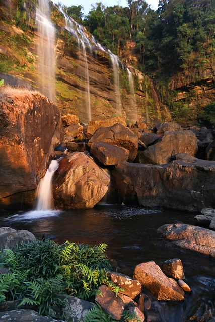 Waterfall glowing in the evening light | Flickr - Photo Sharing!