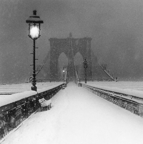 Brooklyn Bridge in the snow...