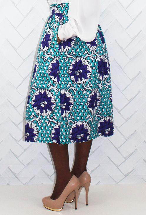 Absolutely Waisted-Wax Print Skirt