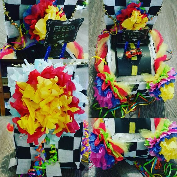 Race car shoe box float fiesta