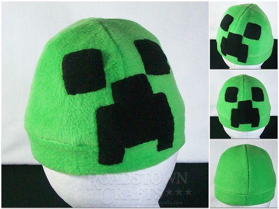 Creeper Fleece Hat by roadstowncrafts.deviantart.com on @DeviantArt