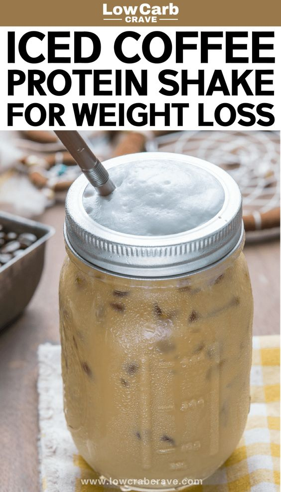 Healthy Low Carb Iced Coffee Protein Shake Recipe for Weight Loss