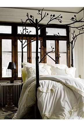 so earthy and pretty: Bed Frames, 3/4 Beds, Tree Bed, Bedframe, Bed Post