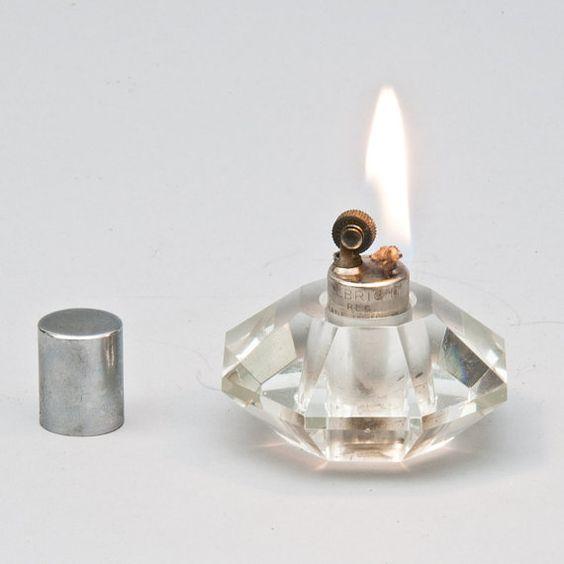 Allbright Octagonal Crystal Glass Table Lighter