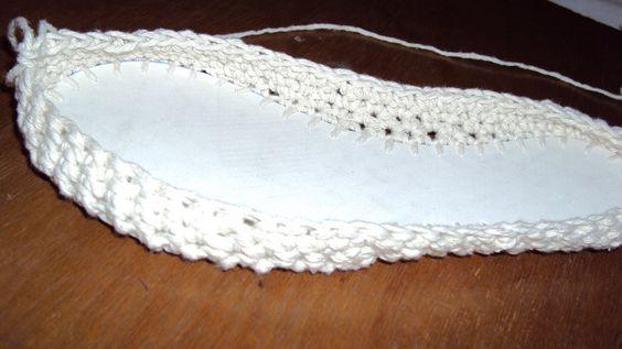 Tricot da Penélope: Sapatilhas em crochê