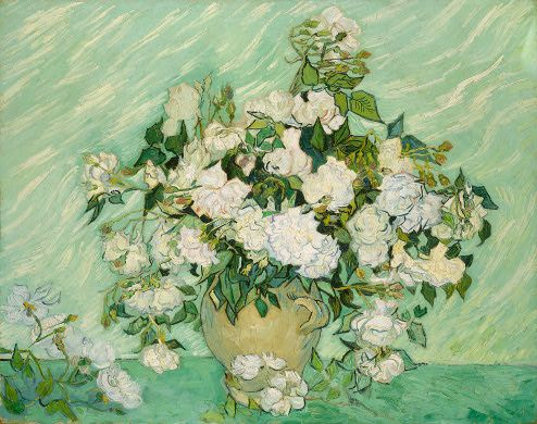"""Everytime you surrender something that isn't meant for you, the universe will bring you something that is. """"Roses"""" by Van Gogh, 1890. One of the paintings completed in the last weeks of his life. Representations of renewal and life"""