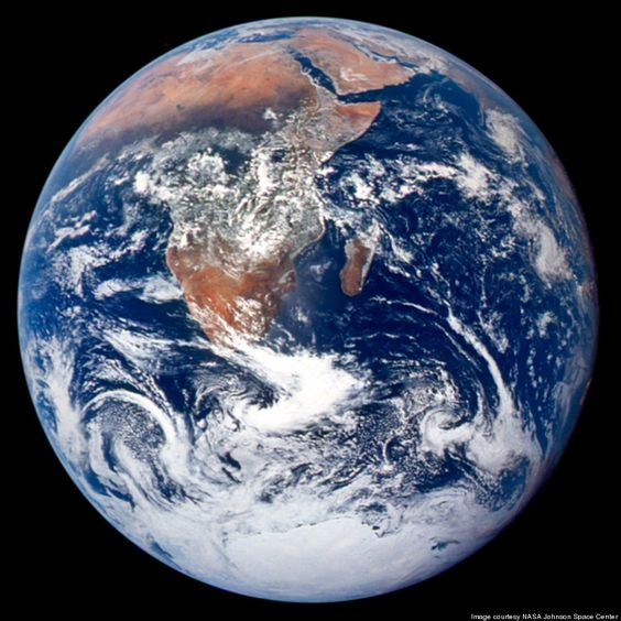 Blue Marble Eastern Hemisphere: NASA via Huffington Post