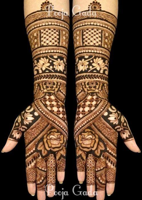 arabic bridal mehandi design