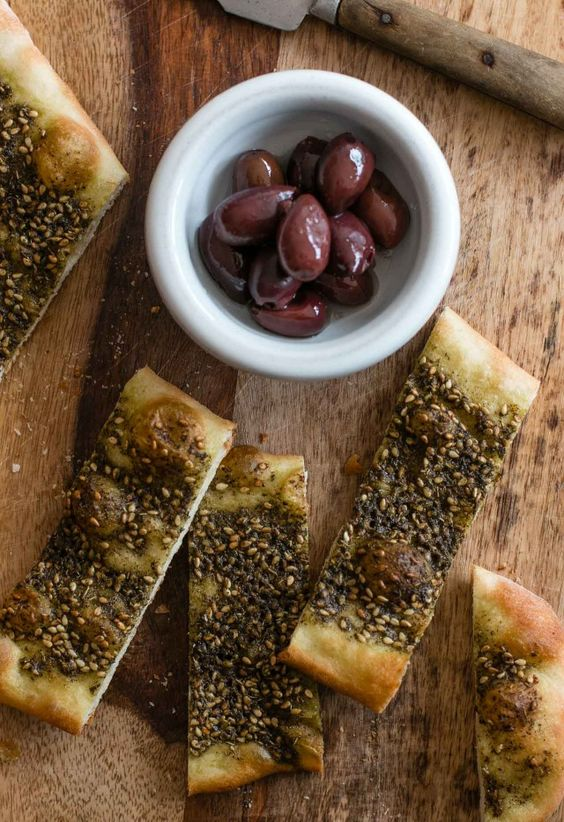 Manoushe zaatar flatbread since you just got some zaatar and all...