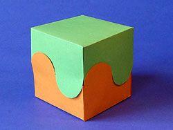 zweifarbige Geschenkbox