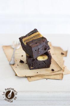 Brownie de Chocolate, Caramelo y Plátano