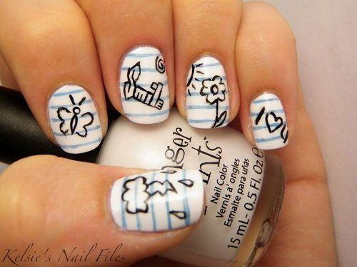 cute acrylic nails for teenage girls