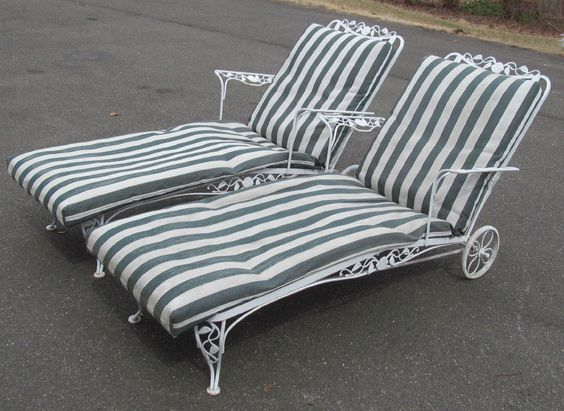 Chairs Chaise lounges and Wrought iron on Pinterest