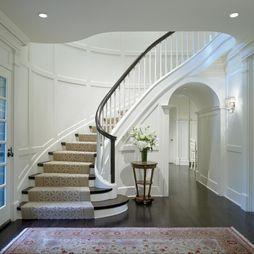 Best Foyer Neutral Color Scheme Round Staircase Focal Point 640 x 480