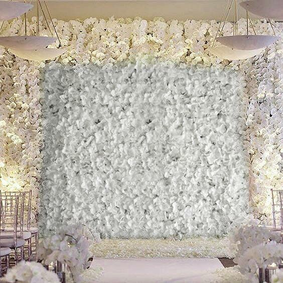 Silk Hydrangea Flowers Wedding Party Wall Backdrop Panel Red