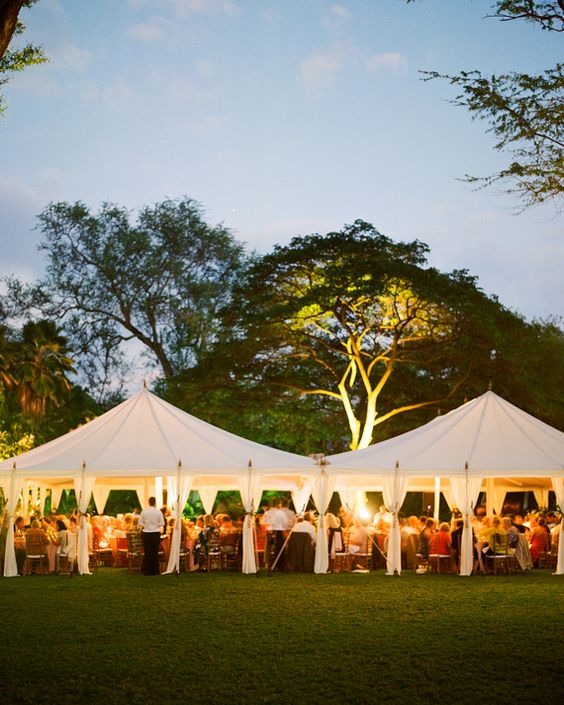 Guests sat in open air-tents and dined on a butter lettuce and kula greens salad with citrus vinaigrette, toasted almonds, and shaved parmiganio; and sesame-crusted mahi mahi with ginger lime beurre blanc, haricot verts, and herbed rice pilaf.