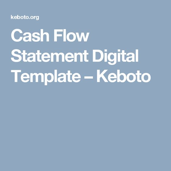 Cash Flow Statement Digital Template  Keboto  Templates