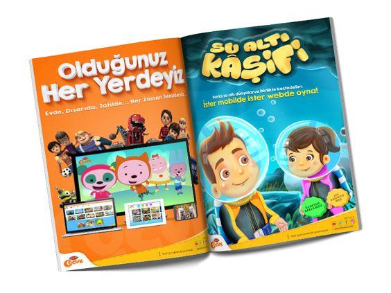 Trt Cocuk Magazine Adverting Magazine Advert Advert Design Magazine