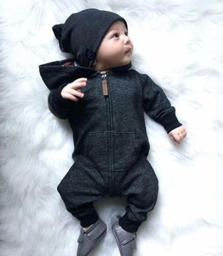 Baby Unisex Long Sleeve Kids Baby Boy Warm Infant Jumpsuit Bodysuitdresskily