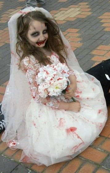Childs girls halloween zombie bride dress costume by for Corpse bride wedding dress for sale