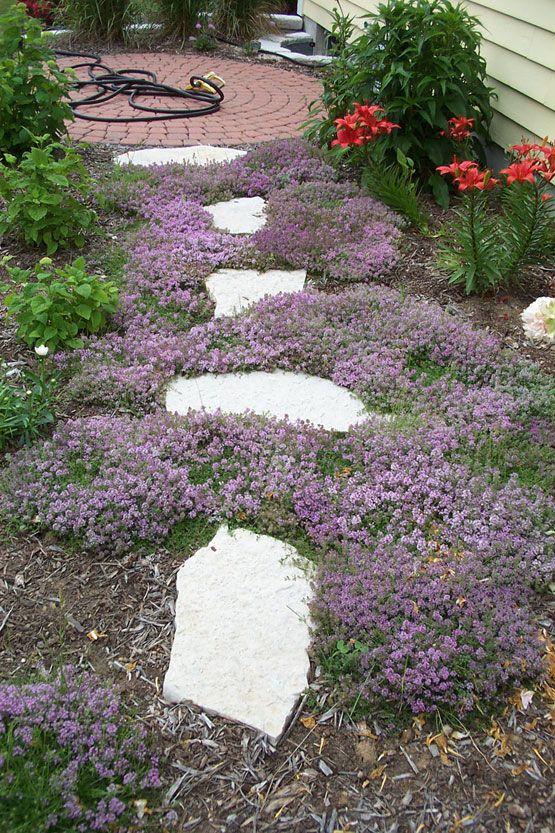 Flagstone Flower Bed Edging