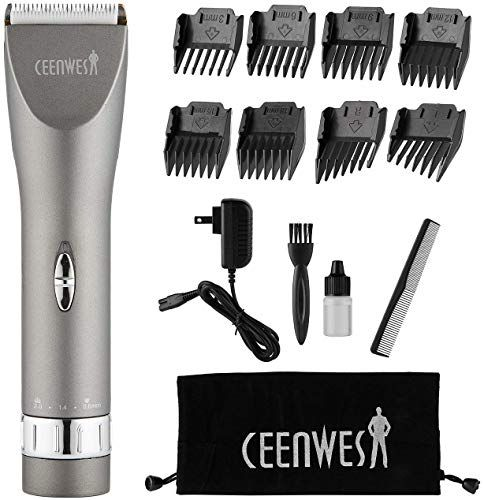 New Ceenwes Updated Version Professional Hair Clippers Cordless Haircut Kit Rechargeable Hair Trimmer Haircut Grooming Kit 8 Combs Carrying Bag Men Father Hus