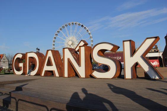 Название Гданьск на улице