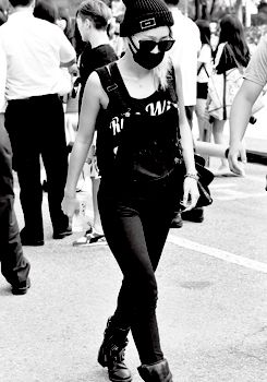 140815. Hyorin's arrival to Music Bank.