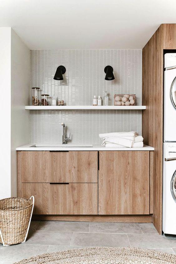 Simple Clean Laundry Room Storage Semihandmade Cabinet Doors For