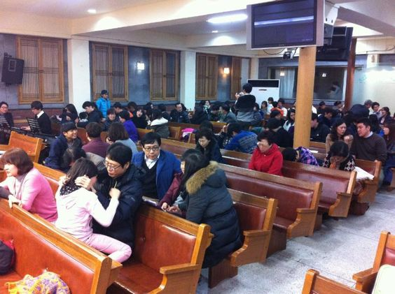 Korean Families Blessing Children.