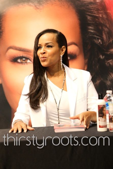 Lisa Raye Red Pro Flat Iron @ Bronner Bothers Hair Show 2013