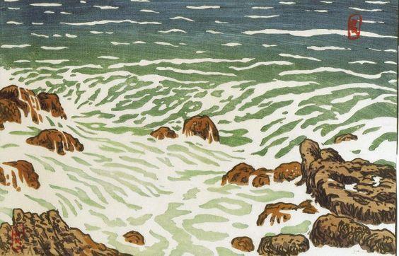 Post impressionnisme Henri Rivière  2 petite vague montante.jpg