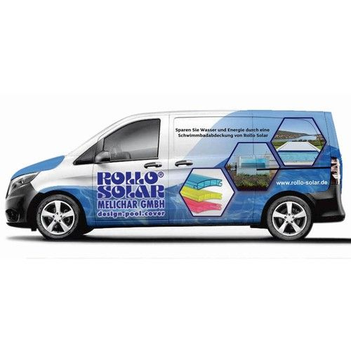 Aœ C New Car Wraps For Our Two Service Vans Premium Pool Covers Aœ
