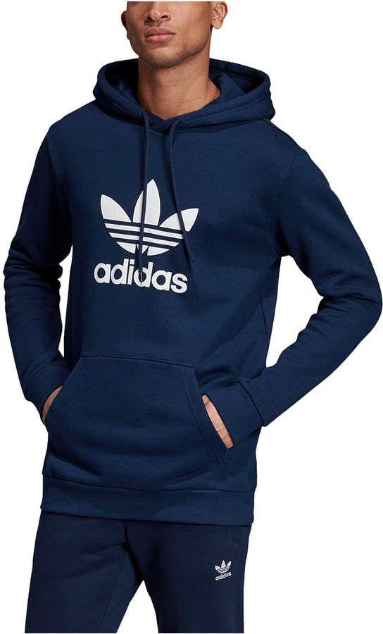 Adidas Adidas Men S Originals Logo Hoodie Reviews Hoodies Sweatshirts Men Macy S In 2020 Adidas Hoodie Mens Adidas Men Hoodies