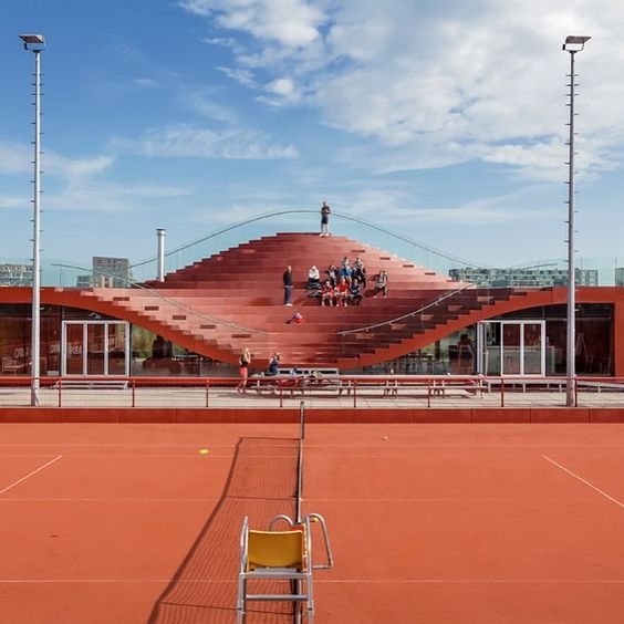 Tennis clubs clubhouses and tennis on pinterest for Architecture firm amsterdam
