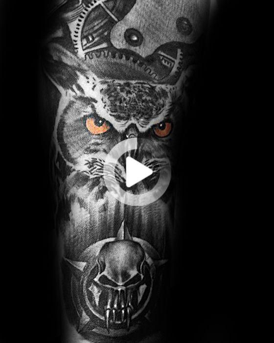 40 Owl Forearm Tattoo Designs For Men Feathered Ink Ideas Owl Forearm Tattoo Owl Tattoo Design Forearm Tattoo Design