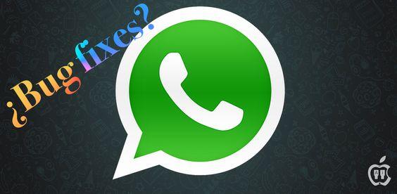 Actualización de WhatsApp: bug fixes. ¿De verdad? - http://www.actualidadiphone.com/actualizacion-de-whatsapp-bug-fixes-de-verdad/