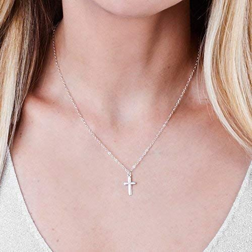 Buy Simple Sterling Silver Cross Necklace 16 Inch 2 Inch Extending Chain Designer Handmade Christian Minimal Jewelry Online Wehaveover In 2020 Cross Necklace Silver Sterling Silver Cross Necklace Silver Jewelry Fashion