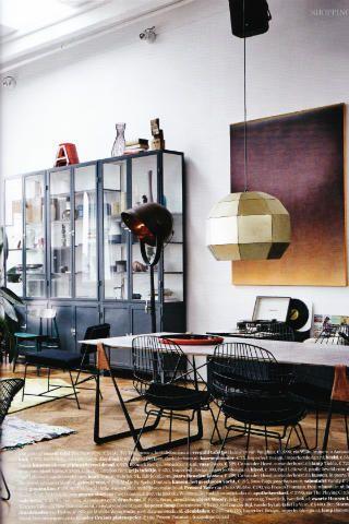 Stoere ijzeren apothekerskast vitrinekast op maat www for Interieur webshop scandinavisch