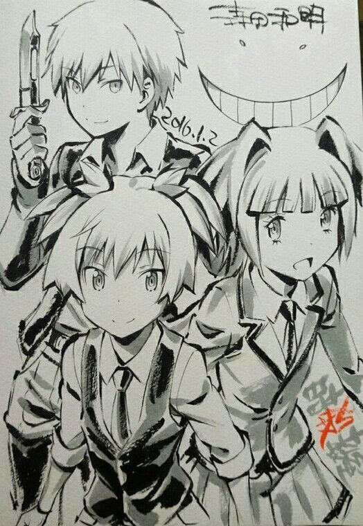 Assassination Classroom | Ansatsu Kyoushitsu | Akabane Karma, Shiota Nagisa, & Kayano Kaede: