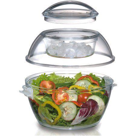 Prodyne Iced UP Salad to Go, Clear