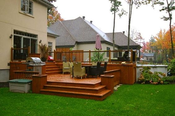 Patio plus patio piscine piscine pinterest decks for Plan de deck de piscine