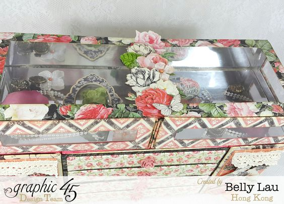 How to Make Mon Amour Mini Dresser With Graphic 45 by Belly Lau #graphic45 #snapguide