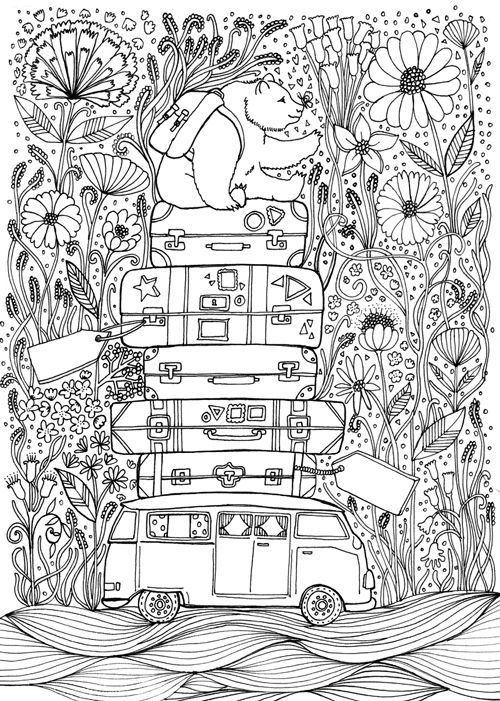 Travel Inspired Colouring Book For La La Land Chrissy Lau