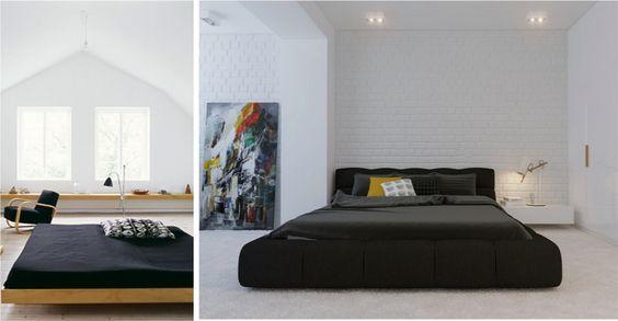 Resultado de imagem para quarto casal minimalista